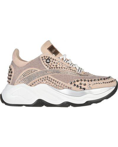 Кроссовки на платформе замшевые розовый Eddy Daniele