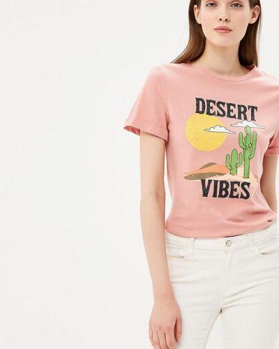 Розовая футболка Glamorous