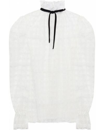 Biała bluzka z haftem tiulowa Philosophy Di Lorenzo Serafini