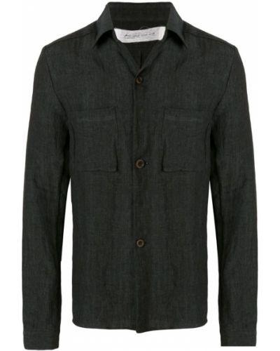 Рубашка с длинным рукавом с карманами черная Individual Sentiments