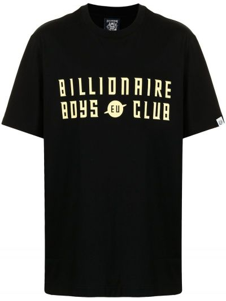 Черная футболка короткая Billionaire Boys Club