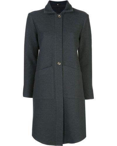 Однобортное пальто классическое с воротником на пуговицах с капюшоном Peter Cohen