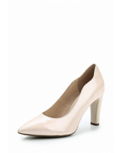 Кожаные туфли на каблуке для офиса Caprice