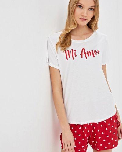 Пижама белая красная Sela