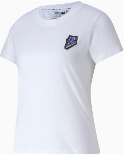 Bawełna bawełna t-shirt okrągły Puma