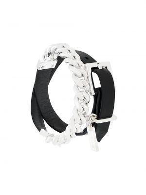 Черный кожаный браслет Coup De Coeur