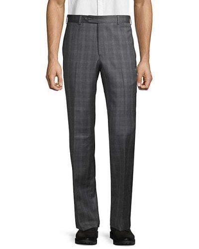 Шерстяные брюки в клетку с карманами Zanella
