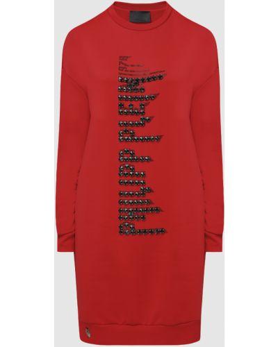 Красное платье мини Philipp Plein