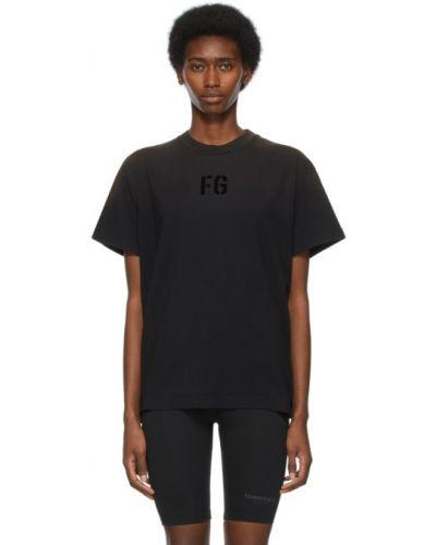 Czarny t-shirt bawełniany krótki rękaw Fear Of God
