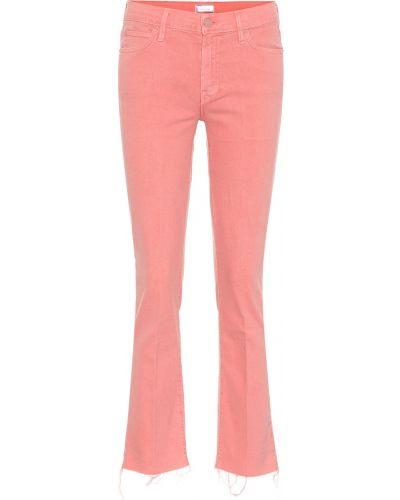 Укороченные джинсы mom розовый Mother