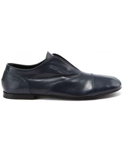 Кожаные синие туфли закрытые Rocco P.