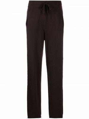 Коричневые кашемировые брюки Kristensen Du Nord