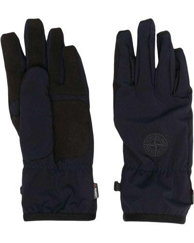 Niebieskie rękawiczki klamry Stone Island