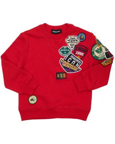 Красная свитшот Dsquared2