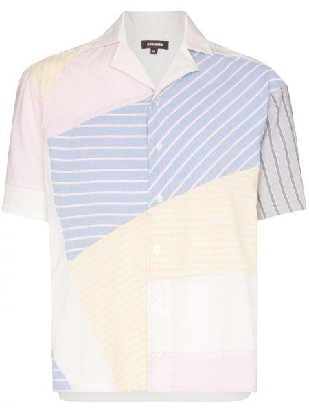 Niebieska koszula krótki rękaw bawełniana Ahluwalia Studio