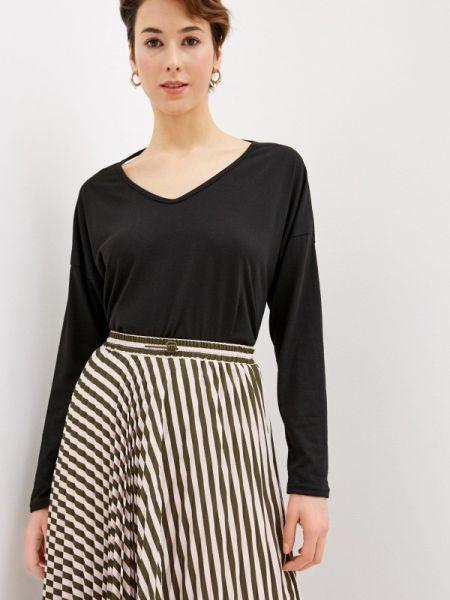 Блузка с длинным рукавом черная весенний Marissimo