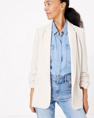Бежевый пиджак Marks & Spencer