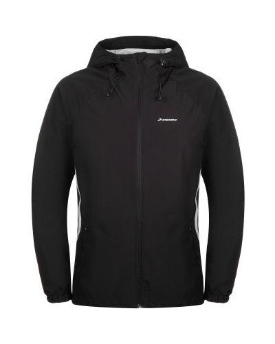 Прямая черная короткая куртка на молнии Demix