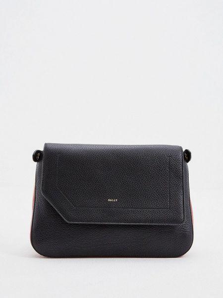 Кожаная сумка через плечо черная Bally