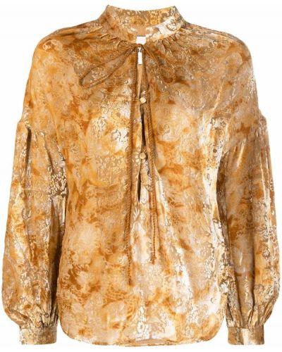 Bluzka koronkowa - żółta Andersson Bell