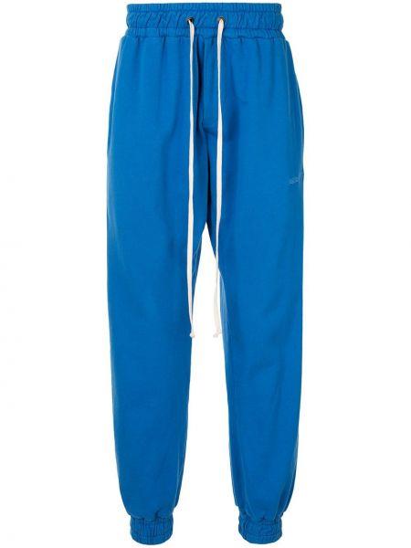 Niebieskie spodnie bawełniane z haftem Daniel Patrick