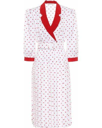 Шелковое белое платье миди Rodarte