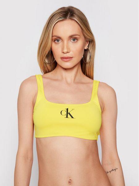 Bikini - żółty Calvin Klein Swimwear