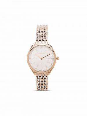 Złoty zegarek kwarcowy Swarovski
