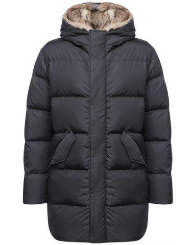 Стеганая серая пуховая куртка Lempelius