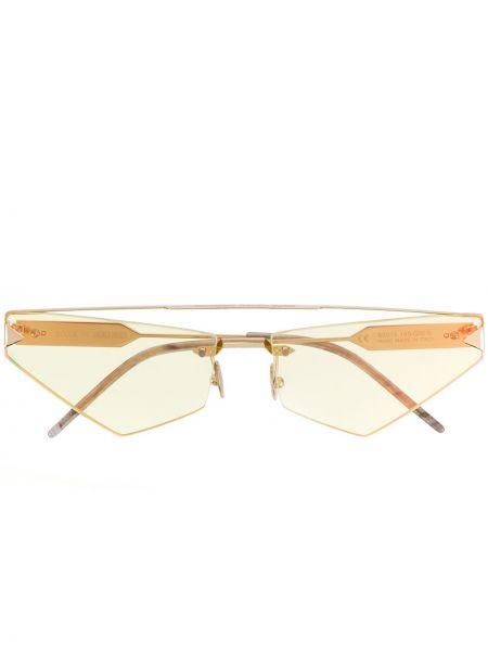 Żółte okulary oversize So.ya