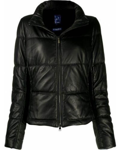 Прямая черная длинная куртка Jacob Cohen