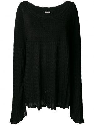 Расклешенный черный вязаный топ винтажный Alaïa Pre-owned