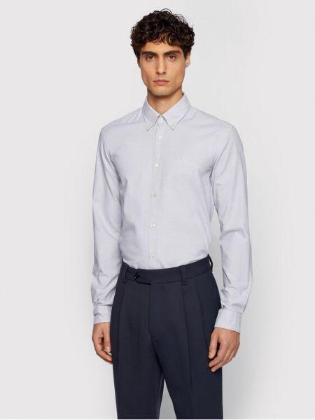 Koszula slim - szara Boss