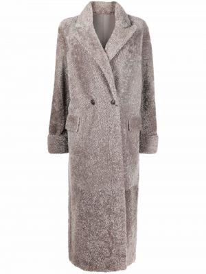 Серое пальто длинное Simonetta Ravizza
