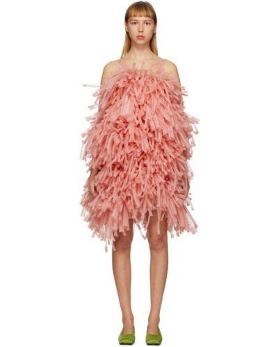 Платье розовое с бахромой Paula Canovas Del Vas