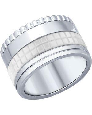 Кольцо из серебра белый Sokolov