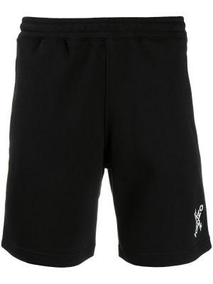 Czarny bawełna bawełna szorty sportowe z kieszeniami Kenzo