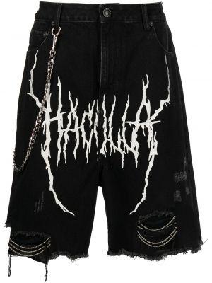 Черные джинсовые шорты Haculla