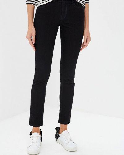 Черные джинсы-скинни с пайетками Versace Jeans