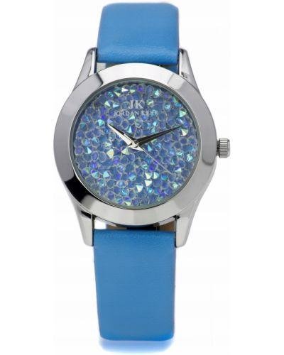 Niebieski zegarek srebrny z cyrkoniami Jordan Kerr