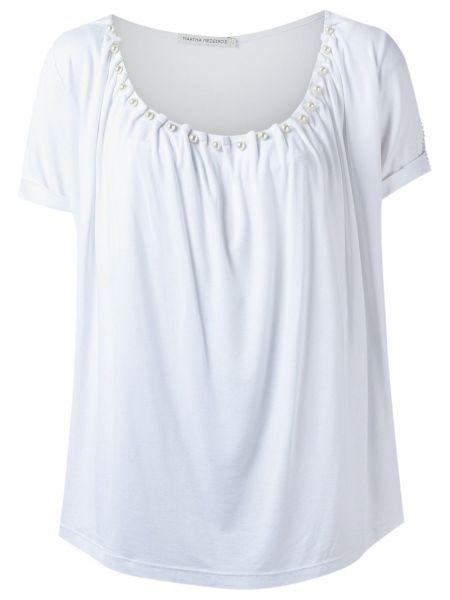Белая блузка из вискозы Martha Medeiros