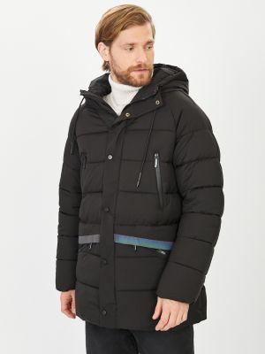 Черная утепленная куртка Baon