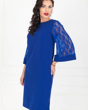 Вечернее платье платье-сарафан синее Taiga