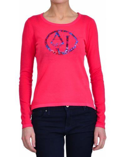 Розовый джемпер шерстяной Armani Jeans