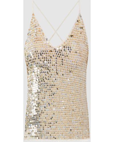 Платье мини с пайетками - желтое Retrofete