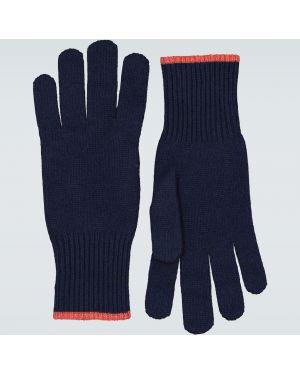 Rękawiczki niebieski kaszmir Brunello Cucinelli