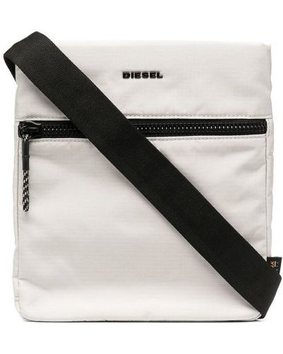 Белый крест с карманами на молнии Diesel