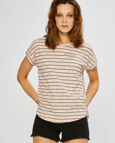 Розовая свободная футболка Vero Moda