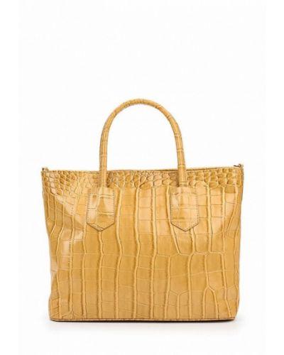 Кожаная сумка из искусственной кожи коричневый медведково
