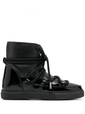 Кожаные сапоги - черные Inuikii